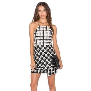 NBD Black and White Print Dress
